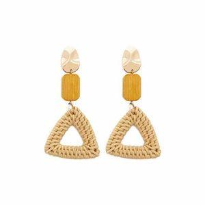 ASOS Rattan Wooden drop earrings